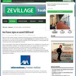 Axa France signe un accord télétravail