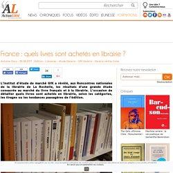 France : quels livres sont achetés en librairie ?