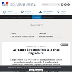 La France à l'action face à la crise migratoire