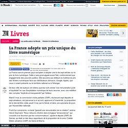 La France adopte un prix unique du livre numérique