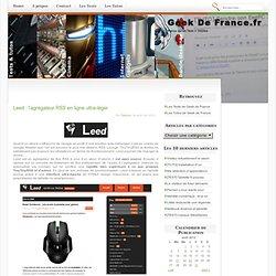 Leed : l'agrégateur RSS en ligne ultra-léger