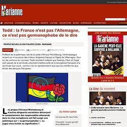 Todd : la France n'est pas l'Allemagne, ce n'est pas germanophobe de le dire