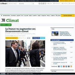 La France va augmenter ses financements climat