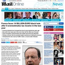 France faces 14 BILLION-EURO black hole after it overestimates tax income in the last year