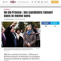 Ile-de-France: les candidats rament dans le même sens