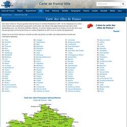 CARTE DE FRANCE VILLE - Cartes et informations des villes de France