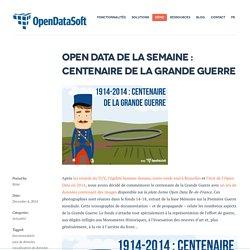 Open Data Île-de-France: Centenaire de la Grande Guerre