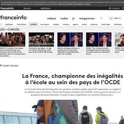 La France, championne des inégalités àl'école au sein des pays de l'OCDE