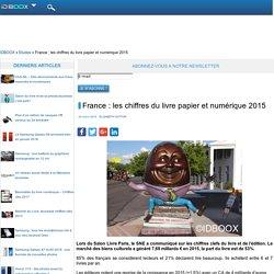 France : les chiffres du livre papier et numérique 2015