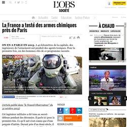 La France a testé des armes chimiques près de Paris