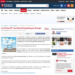 La France N°1 du Cloud Computing en Europe