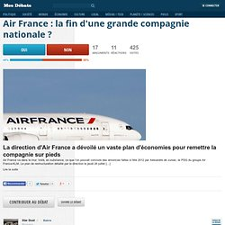 Air France : la fin d'une grande compagnie nationale ?