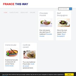 Easy French recipes, a variety of recipes from France