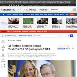 La France compte douze milliardaires de plus qu'en 2013