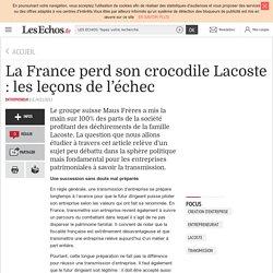 La France perd son crocodile Lacoste : les leçons de l'échec