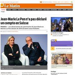 France: Jean-Marie Le Pen n'a pas déclaré un compte en Suisse - Monde: Europe