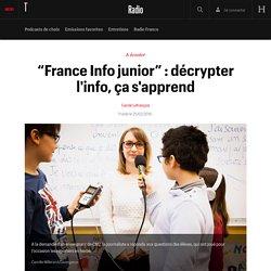 """France Info junior"" : décrypter l'info, ça s'apprend"