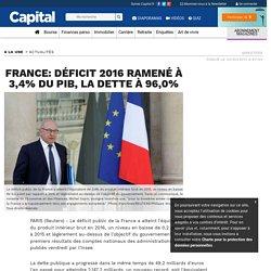 France: Déficit 2016 ramené à 3,4% du PIB, la dette à 96,0% - Capital.fr