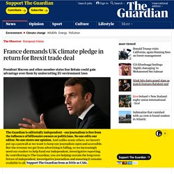 France demands UK climate pledge in return for Brexit trade deal