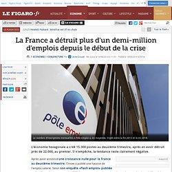 14/08 La France a détruit plus d'un demi-million d'emplois depuis le début de la crise