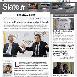 Ce que la France devrait rappeler à Google