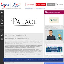 Atout France - La Distinction Palace