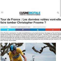 Tour de France : Les données volées vont-elles faire tomber Christopher Froome ?