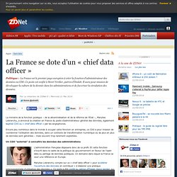 La France se dote d'un « chief data officer »