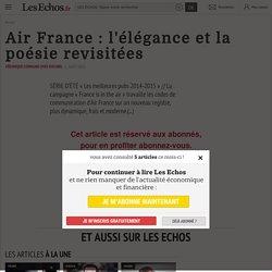 Air France : l'élégance et la poésie revisitées