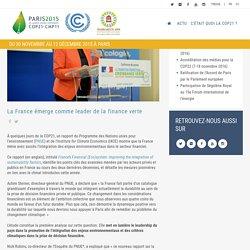 La France émerge comme leader de la finance verte
