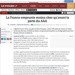 Conjoncture : La France emprunte moins cher qu'avant la perte du AAA