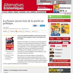 La France encore loin de la parité en politique