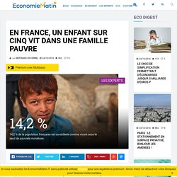 En France, un enfant sur cinq vit dans une famille pauvre