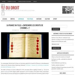 La France va-t-elle « enfreindre les droits de l'homme » ? - Vu du Droit