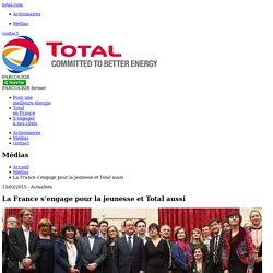 La France s'engage pour la jeunesse et Total aussi