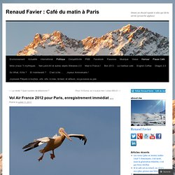 Vol Air France 2012 pour Paris, enregistrement immédiat …