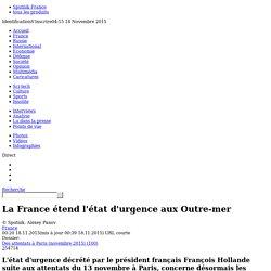 La France étend l'état d'urgence aux Outre-mer