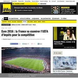 Euro 2016 : la France va exonérer l'UEFA d'impôts pour la compétition