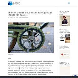 """Vélos et autres deux-roues """"made in France"""""""