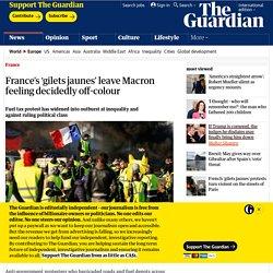 France's 'gilets jaunes' leave Macron feeling decidedly off-colour