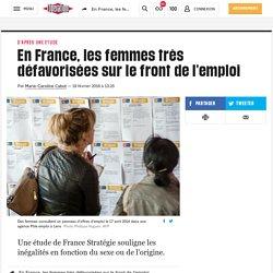 En France, les femmes très défavorisées sur le front de l'emploi