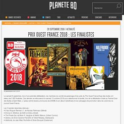 Prix Ouest France 2018 : les finalistes, sur planetebd.com