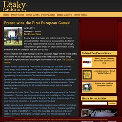 France wins the First European Games! - The-Leaky-Cauldron.org « The-Leaky-Cauldron.org