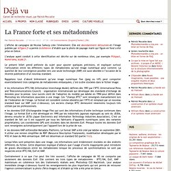 La France forte et ses métadonnées