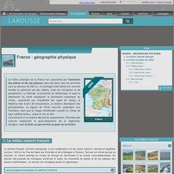 France : géographie physique