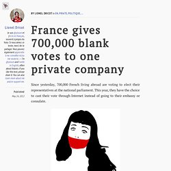 France gives 700,000 blank votes to one private company
