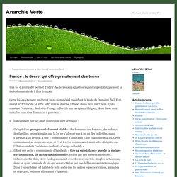 France : le décret qui offre gratuitement des terres