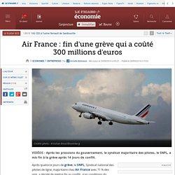 Air France: fin d'une grève qui a coûté 300millions d'euros