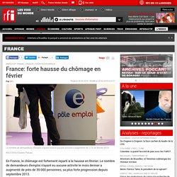 France: forte hausse du chômage en février - France
