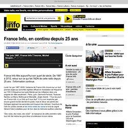 France Info, en continu depuis 25 ans - Médias